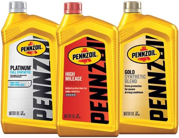 Pennzoil Full Synthetic, High Mileage, Synthetic Blend motor oils
