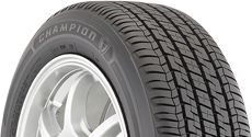 Top half section of a Champion tire