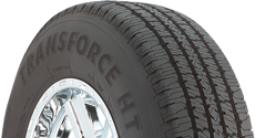 Top half section of a Transforce HT tire